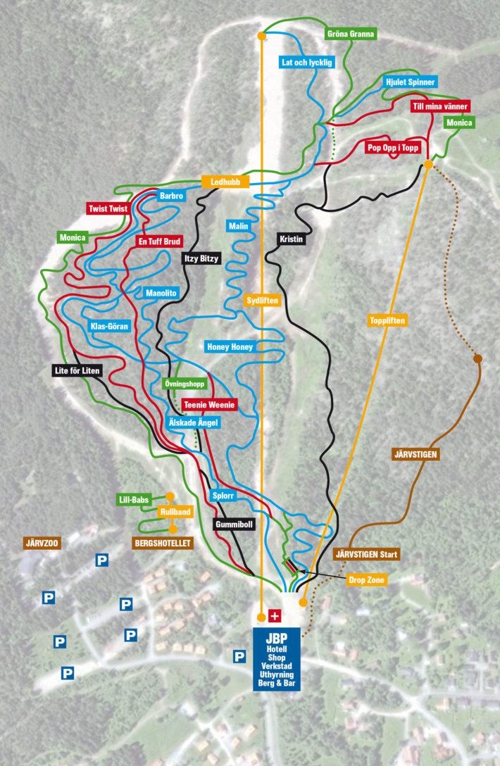 Ledkarta Järvsö Bergscykel Park