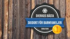Detta är Sveriges bästa skidort för barnfamiljer 2019