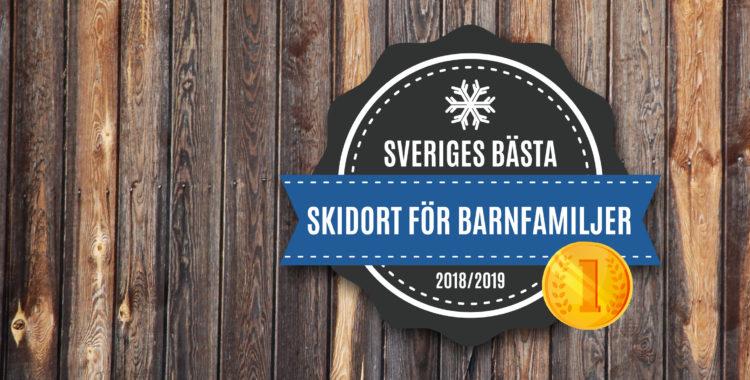 Bästa skidorten för barnfamlijer utsedd för säsongen 2018/2019!
