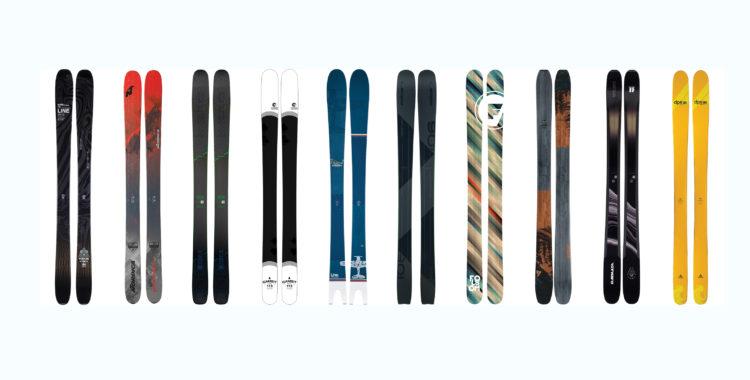 Topp 10 bland de trettio testade skidorna med midja 100-114mm.