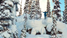 Hedwig Wessel & bröderna Regnér på puderfrossa i Kanada