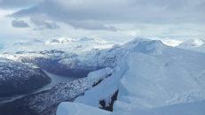 Ett halvt fotsteg från döden på Rombakstötta, Narvik
