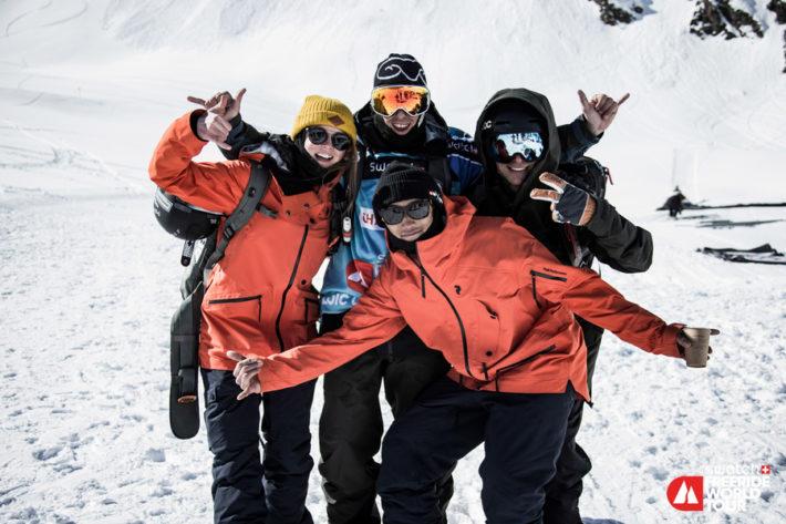 Evelina med andra tävlande i Andorra.