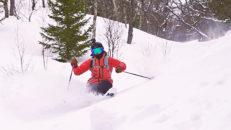 Så åker du skidor i puder