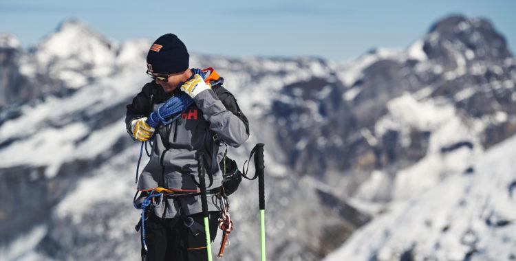 Mattias Hargin lärde sig mer om rep, glaciär och transceiversök i Engelberg.