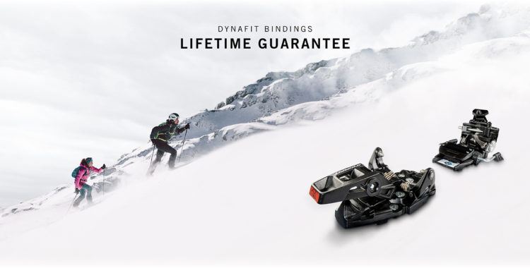 Livstidsgarantin är begränsad till 10 år, eftersom Dynafit menar att det är livstiden på en bindning.