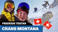 Freeride testar: Crans Montana