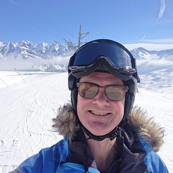 Anders i Chamonix under vintern.