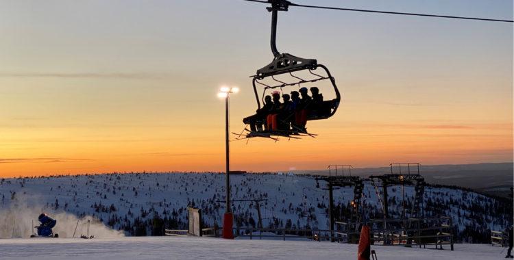 Kvällsljus i Hundfjället, Sälen den 22 januari 2020.