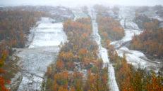 Första snön har fallit i Tänndalen