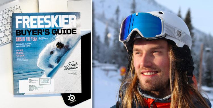 Freerides frilansare Axel Adolfsson har landat sitt fetaste skidtidningsomslag hittills i karriären för amerikanska Freeskier.