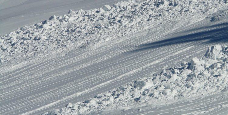 Två laviner har utlösts av skidåkare i Sälen (bilden visar en annan lavin).