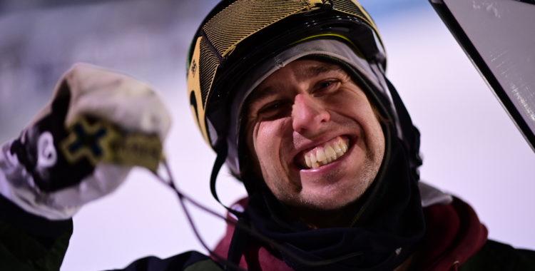 X Games Aspen, Colorado 31 januari 2021: Henrik Harlaut vid medaljceremonin för Ski Knuckle Huck där han knep guld.