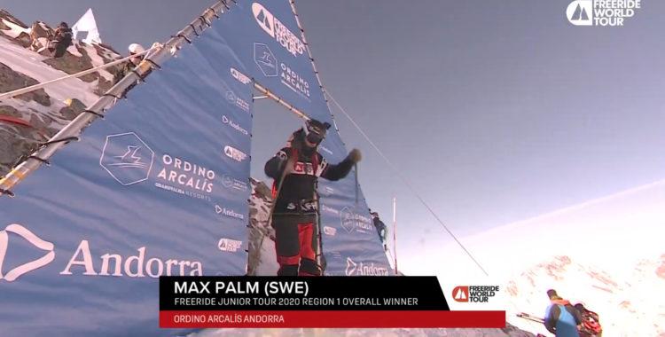 Max Palm körde som föråkare under FWT i Andorra.
