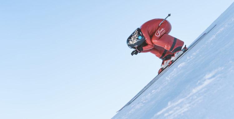 Britta Backlund har nu gjort hat trick i värlscupen Speedski.