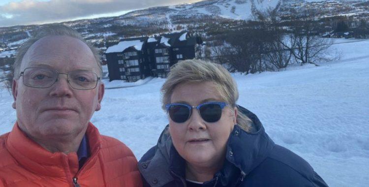 Statsminister Erna Solberg firade sin 60-årsdag i Geilo, i sällskap som översteg tio personer.