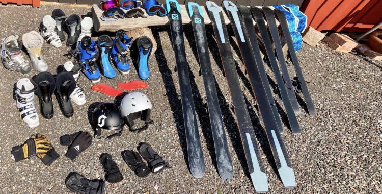 Sommarvila för skidor och skidprylar