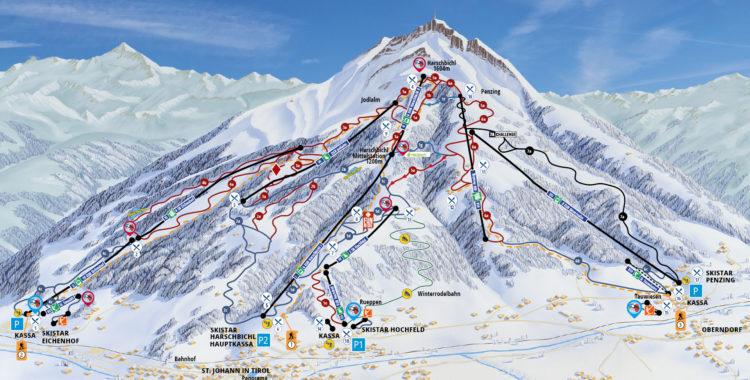 Pistkarta över St. Johann in Tirol