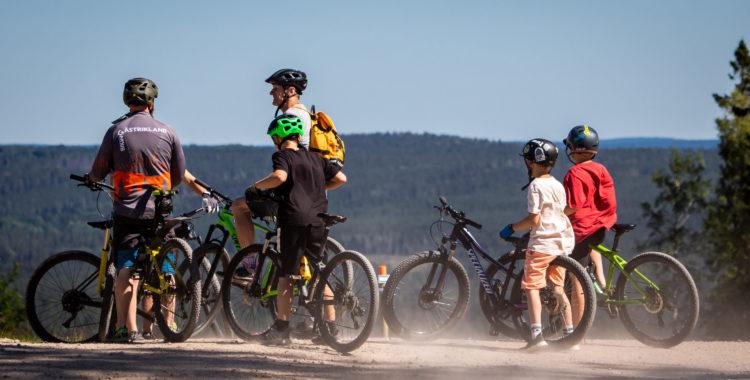 Cykelpremiär i Kungsberget.