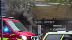 Skidaffären Udéns sport i Göteborg allvarligt brandskadad