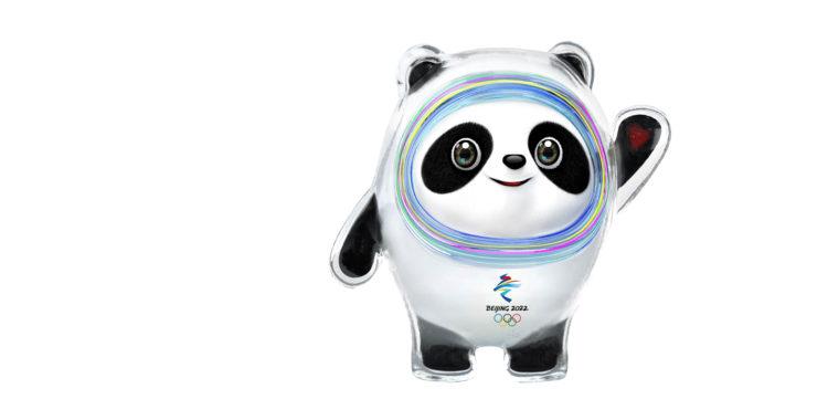 Den glada jättepandan Bing Dwen Dwen är OS-maskot för Peking.