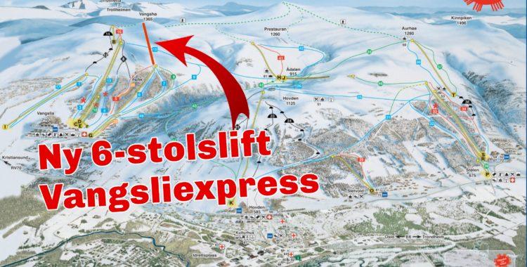 Oppdal får en ny sittlift Vangsliexpress, premiär i december 2021.