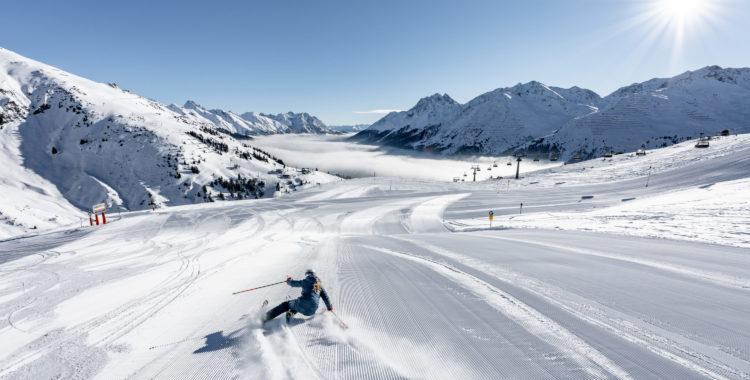 St Anton har duktigt många bra pistkilometer med fin preparerad  alpin skidåkning.