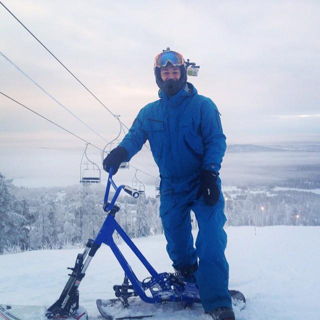 Snowscoot-entusiast i Kåbdalis.