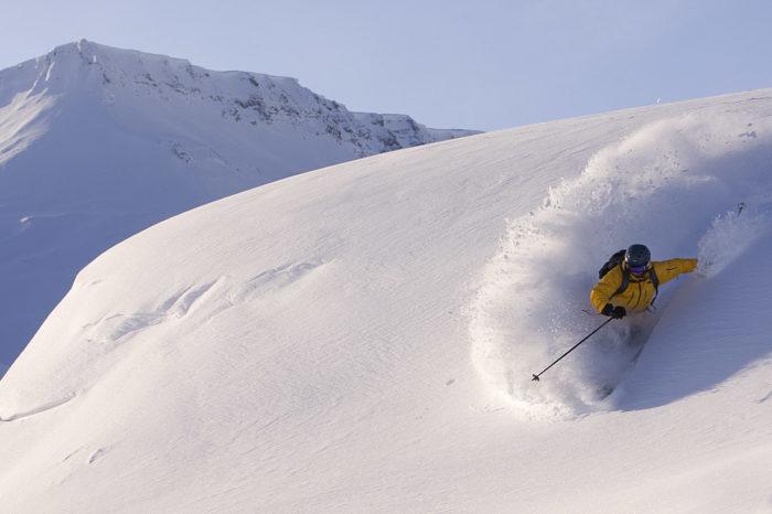 Dåligt för skidåkning men ibland hittar man snö ändå.