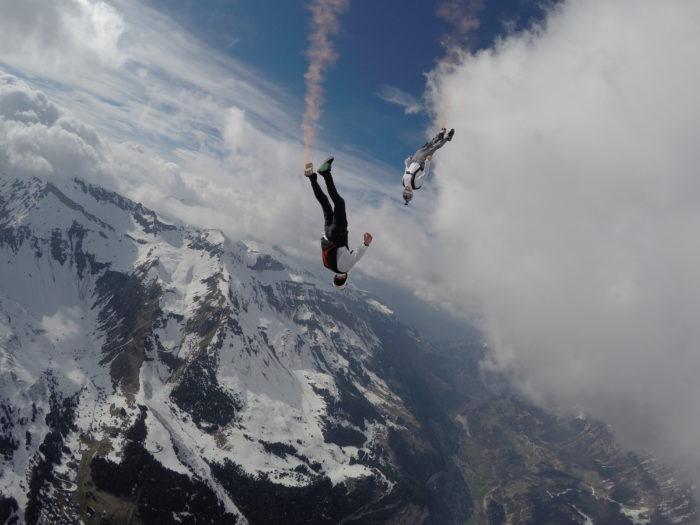 Skydiving med en utsikt