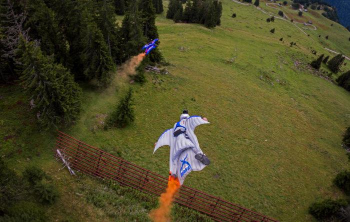 Proximity-flygning i Hintisberg, Schweiz