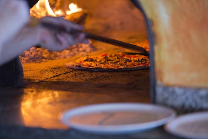 Pizzan är god men lite dyrare i St Moritz
