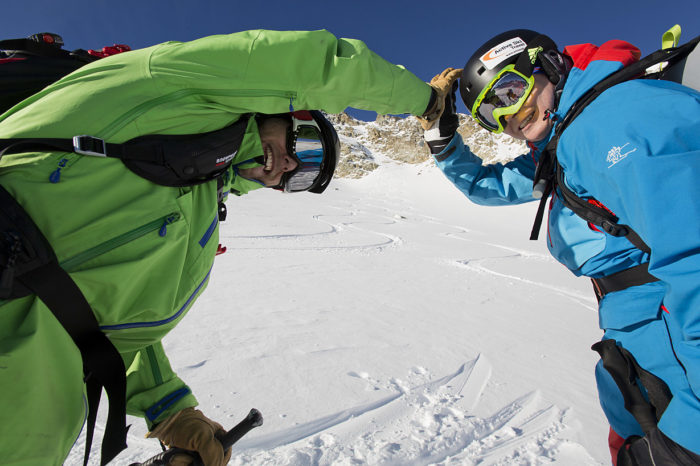 Nöjda skidåkare