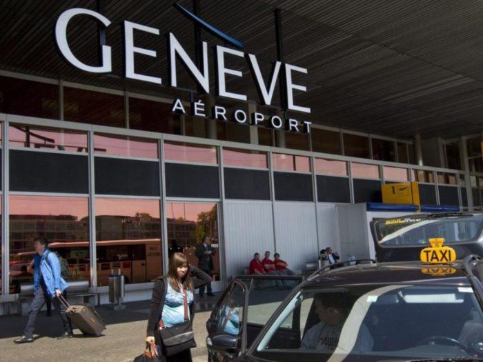 Du träffar alltid många skidåkare när du flyger till Geneve