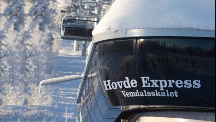 Hovde Express heter den nya liften i Vemdalen