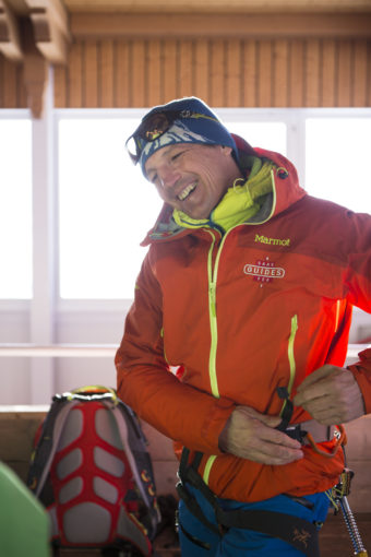 Michael Schwarzl - Saas Fees skidpatrullschef tillika underklädesexpert