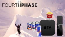 Vinnaren av en Apple TV, red bull och pop corn