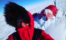 Johanna Davidsson är halvvägs till Sydpolen