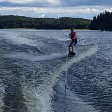 Wakeboard pic from the summer :) in sweden. thats .