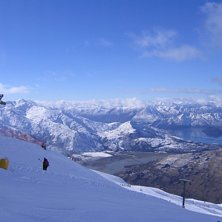 Toppen av Treble cone i New Zealand,phuuu, den dag.