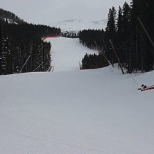 World Cup Downhill run at Lake Louise.. Foto: Jamie Hunter. Åkare: None.